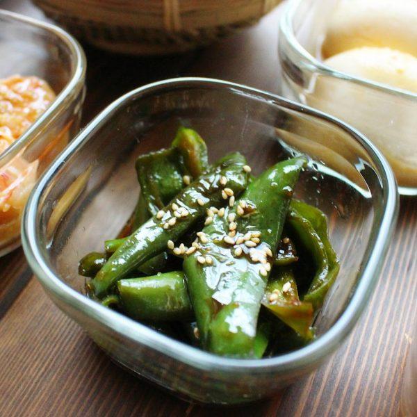 野菜一つの簡単レシピのピーマンの生姜焼き
