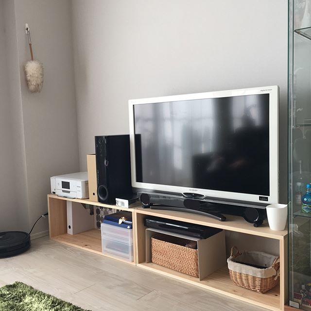 テレビ下収納