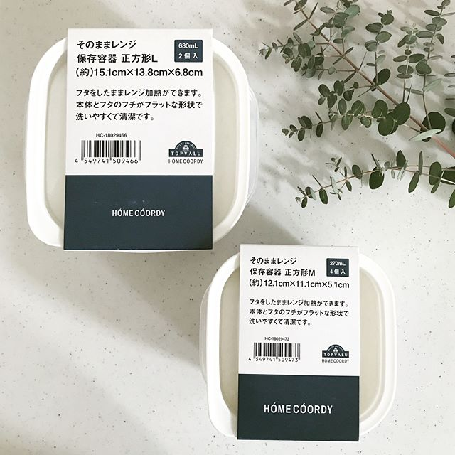HOME COORDYの四角型保存容器