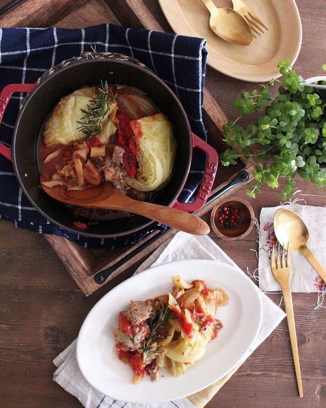 さば缶、トマト、キャベツ、玉ねぎ、煮込み