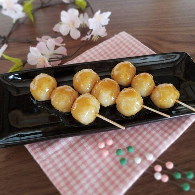 片栗粉×ご飯で作る♪簡単みたらし団子レシピ