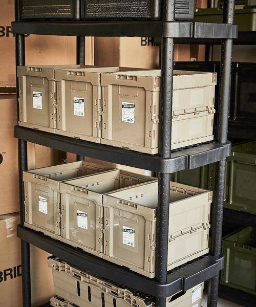[BRID] ブリッド モールディング コンテナボックス 折り畳み 収納 Mサイズ / BRID molding_CONTAINER BOX_M 20L