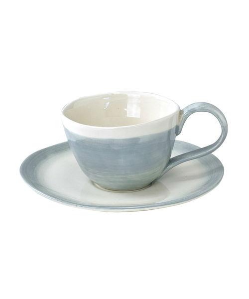 [SPICE OF LIFE] manually 陶器ティーカップ&ソーサー バイカラー/グラデーション