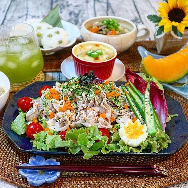 誕生日会に人気!簡単盛り盛り冷しゃぶサラダ