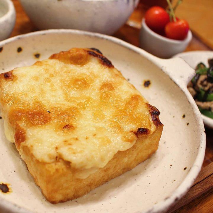 厚揚げで節約!厚揚げのチーズ焼きレシピ