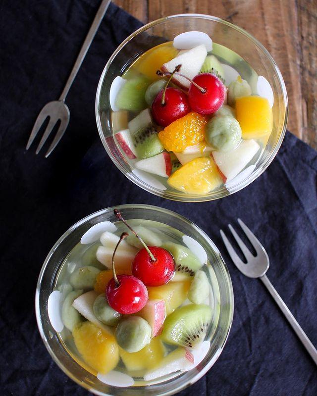 ヘルシー♡豆乳白玉のフルーツポンチレシピ