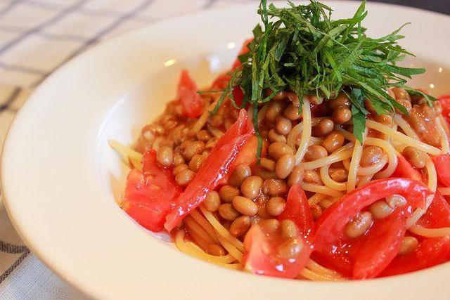 夏におすすめ!納豆トマトの冷製パスタソース