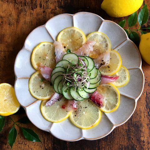 簡単で豪華!真鯛のカルパッチョサラダ