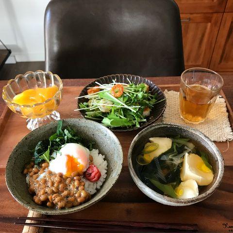 さっぱりトッピング♪半熟卵×梅×納豆レシピ