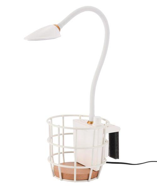 ワイヤーバスケット付きの照明