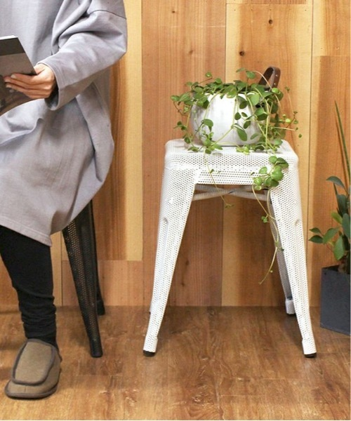 [a.depeche] stacking MESH stool low WH / スタッキングメッシュスロウスツール ホワイト / カウンターチェア