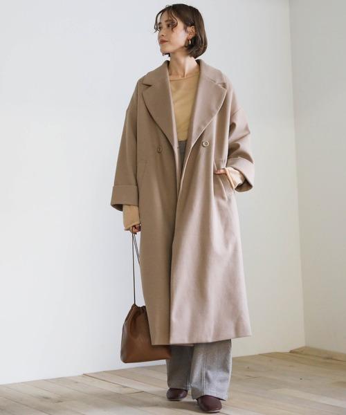 オーバーサイズコートの冬スタイル