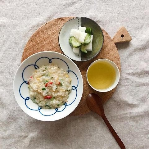 クコの実トッピング×小海老入り卵粥レシピ