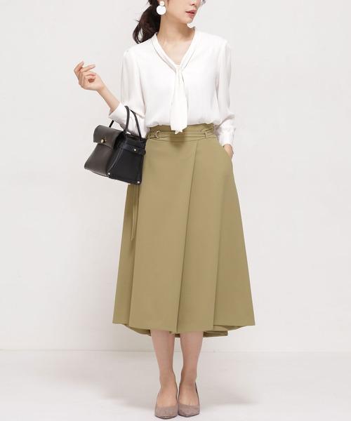 Silk moisture ラップスカート