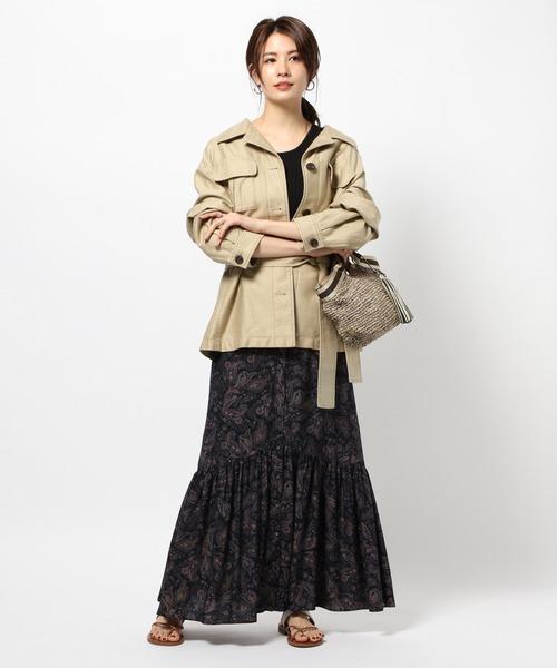[BABYLONE] ペイズリープリントスカート