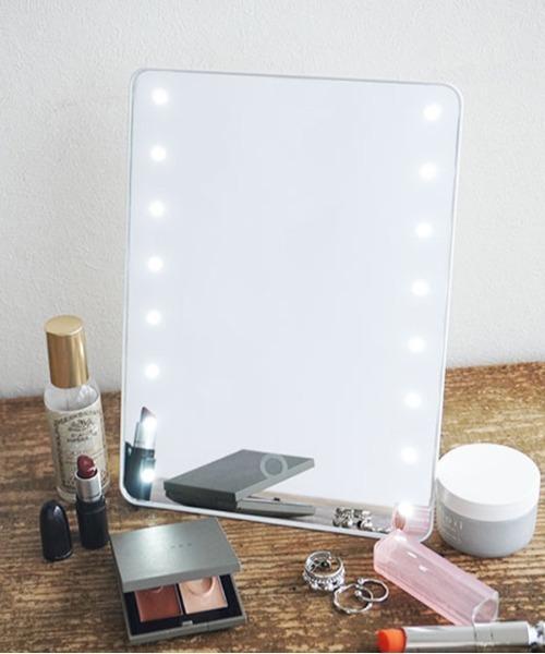 [Port] ブライトニング LED ミラー / ハリウッドミラー / 女優ミラー / 鏡