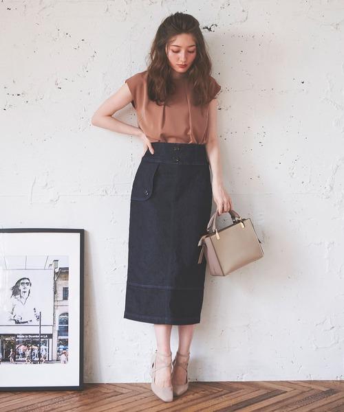 キルティングタイトスカート