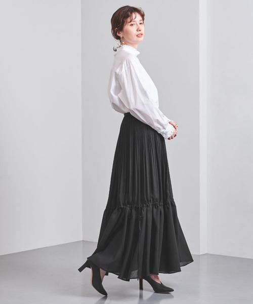 [UNITED ARROWS] <EZUMi(エズミ)>マキシ プリーツスカート