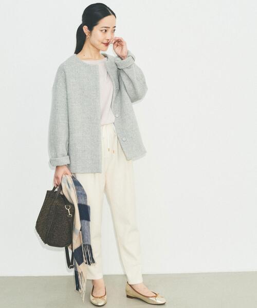 [green label relaxing] SC ドロスト テーパード サラブレット パンツ <34-40サイズ>