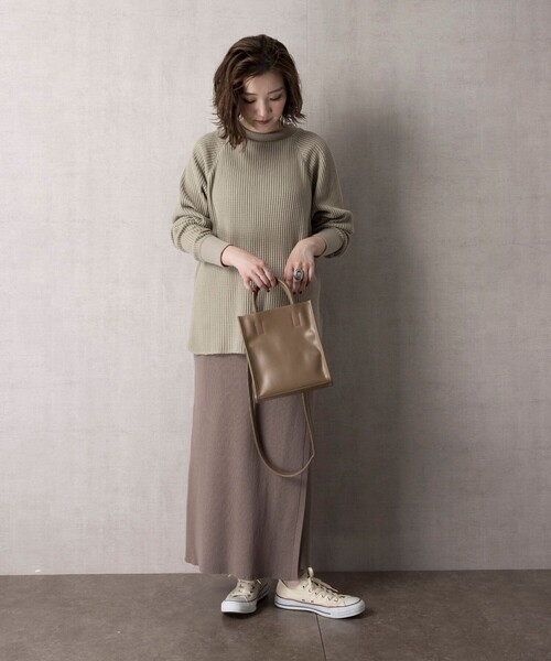[FREAK'S STORE] ▽【WEB限定】ラップニットスカート(巻きスカート