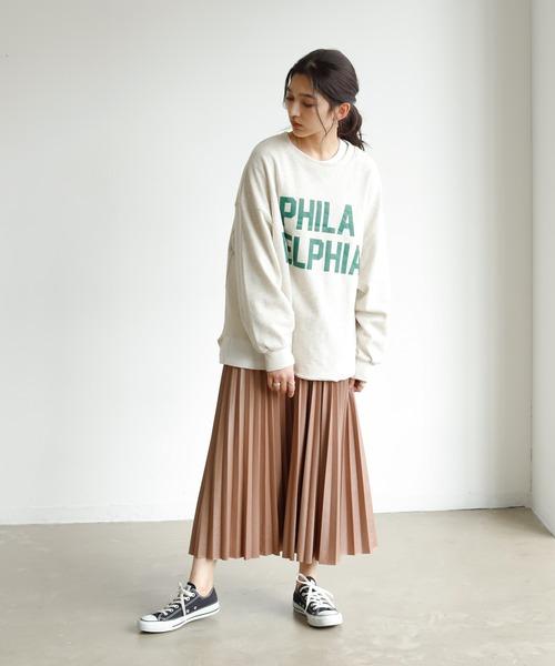 エコレザータッチプリーツスカート