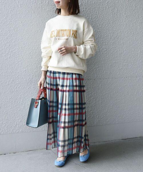[SHIPS for women] SHIPS any: SPRINTEX チェックプリーツスカート