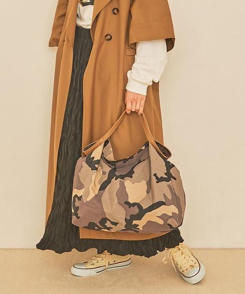 [COO ONLINE] COOCO クーコ /折りたたみ迷彩柄トートバッグ