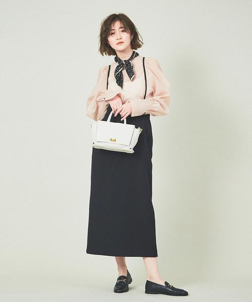 [Rouge vif la cle] 【WEB&一部店舗限定】サスペンダータイトスカート