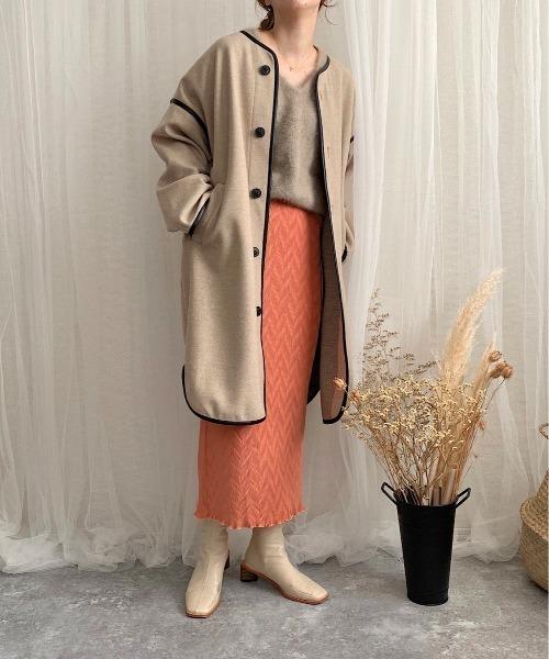 変形楊柳ロングスカート