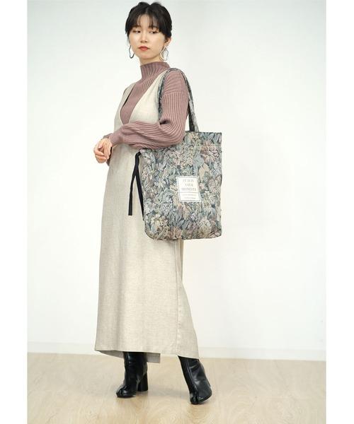 [ANDJ] 2WAYゴブラン織ロゴ巾着トートバッグ