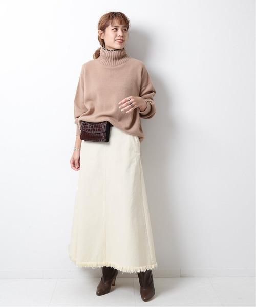 デニムトラペーズラインスカート