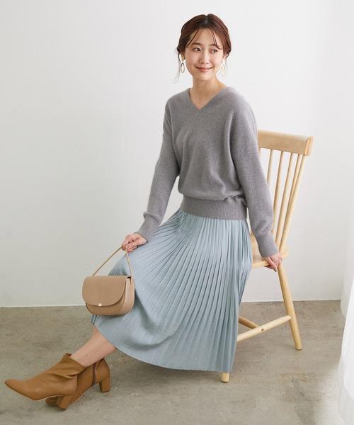 [ROPE' PICNIC] パウダリーサテンスカート
