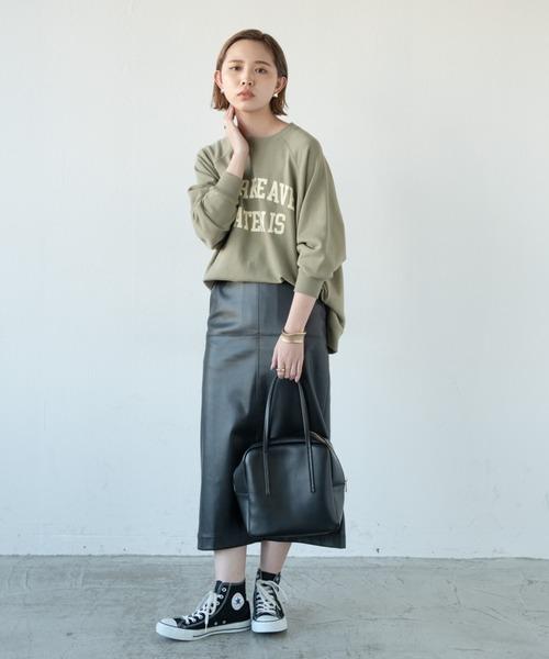 [YARD PLUS/AUNT MARIE'S] エコレザータイトスカート/AUNT MARIE'S