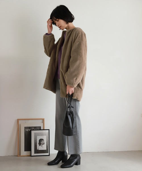 [LAKOLE] エコレザー巾着バッグ / LAKOLE