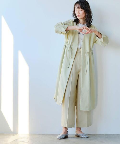 [green label relaxing] ◆FFC トリアセ / PE ストレート ワイド パンツ