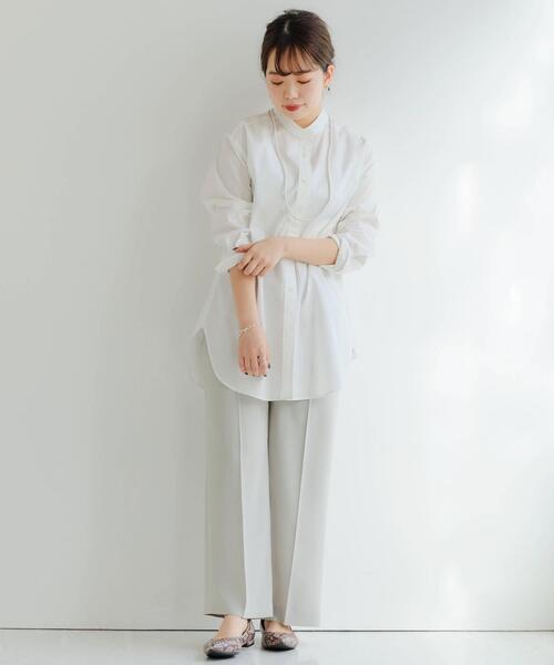 [green label relaxing] [ XS / H148-155cm ] [ 1_OF MINE ]★★FM バンドカラー シャツ <XS>