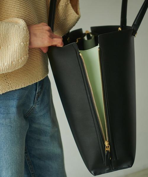 Y bag Large(サイドジップ縦型トートバッグ)