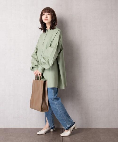 【WEB限定】ボリューム袖ブロードシャツ