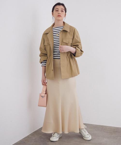 [ROPE'] 【春まで着られる】ライナー付きミリタリージャケット