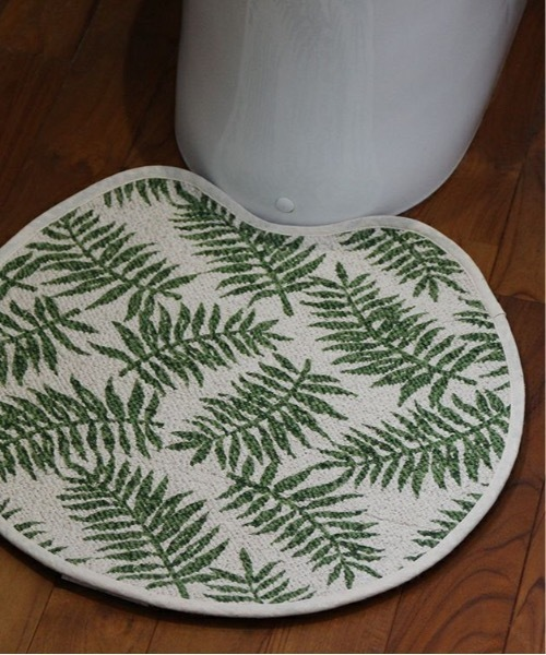 [a.depeche] roll tufted toilet mat 2117 leaf KH / トイレマット