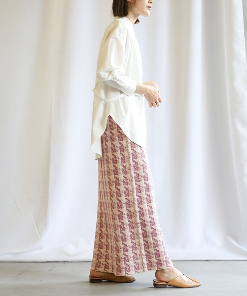 [select MOCA] 2021 S/S クランブルニットスカート/ウエストゴムロングタイトスカート14