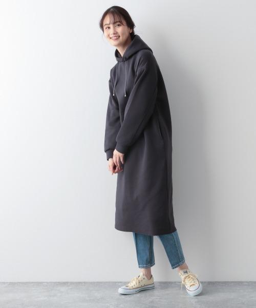 [GLOBAL WORK] ハンサム美人パーカーワンピ/926677