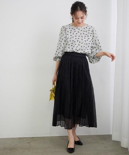 [ViS] 【WEB限定】シアーランダムプリーツスカート