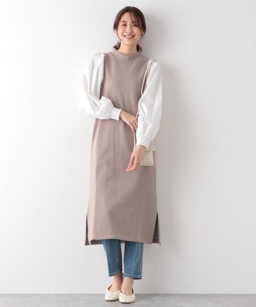 ドッキンク袖フワワンピース/930439