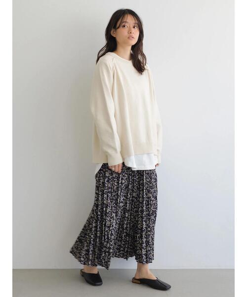 マルチプリーツロングスカート