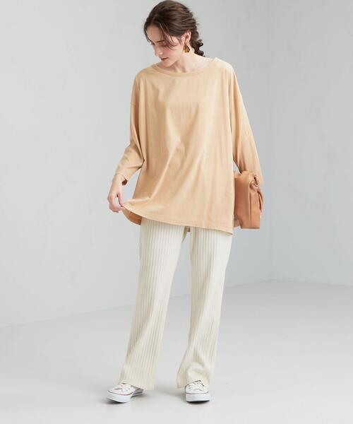 [green label relaxing] [ Livelihood (ライブリフッド) ] SC ハイゲージ オーバーサイズ Tシャツ