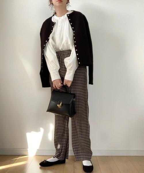 [Bonjour Sagan] 【2021 S/S 新作】 WEARISTA maiko × Bonjour Sagan ボリュームスリーブ 4WAYハイネックデザインブラウス1