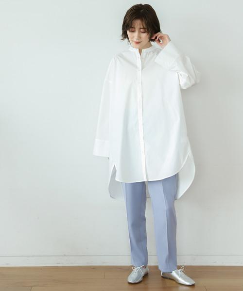 [apart by lowrys] Coオーバーサイズスタンドシャツ 931713