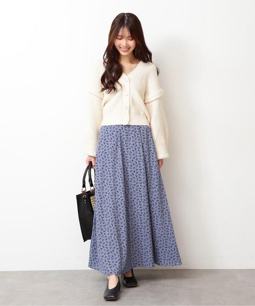 [FREE'S MART] ◆レトロフラワーマキシスカート
