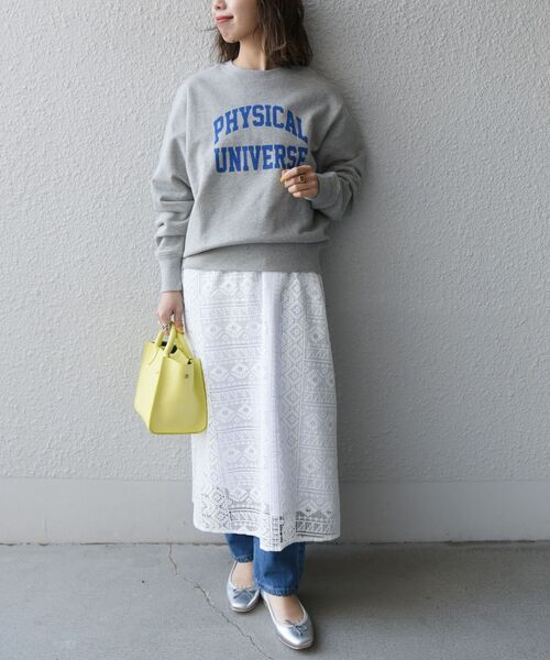 [SHIPS for women] 【SHIPS any別注】THE KNiTS: カレッジ スウェット◆